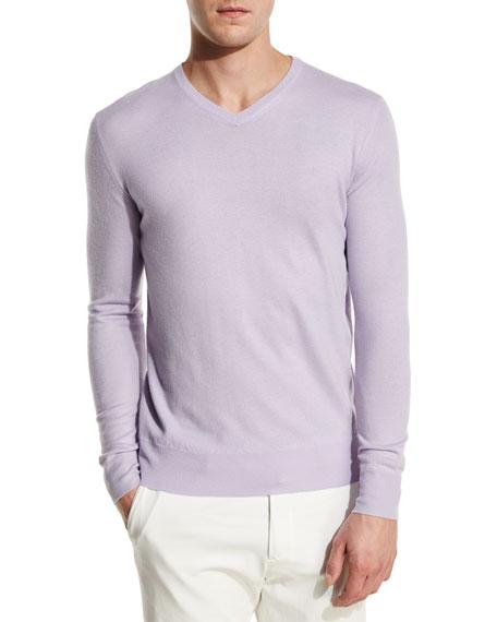 Scollo V-Neck Superlight Baby Cashmere Sweater