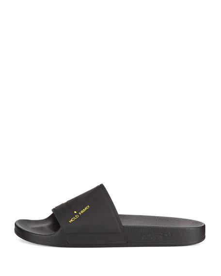The Adilette Bunny Sandal Slide, Black