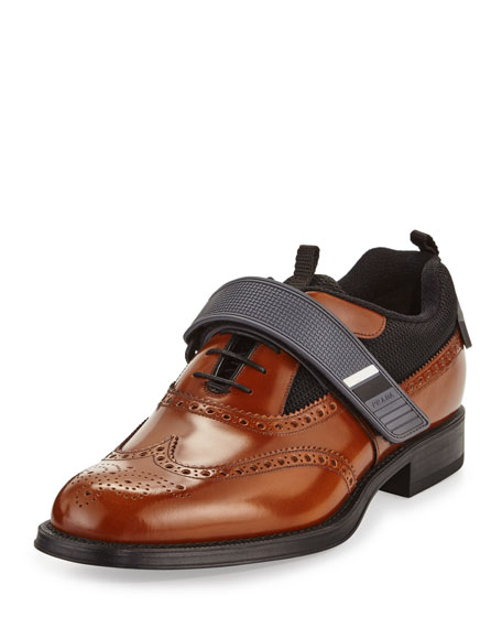 Runway Hybrid Brogue Sneaker, Brown