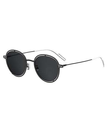 Dior Round Open-Work Metal Sunglasses