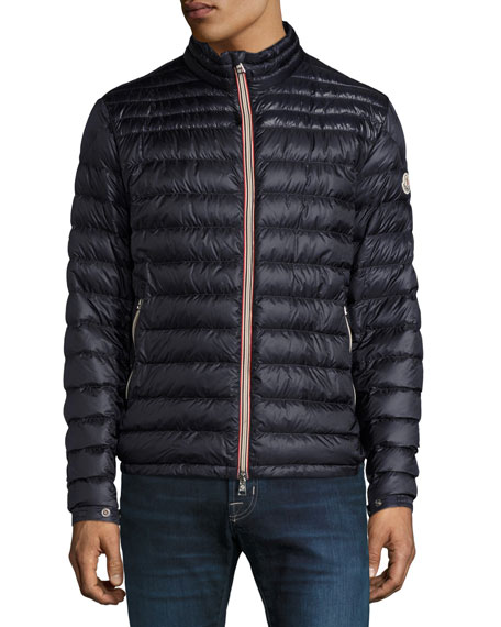 12d767c360b9 Moncler Daniel Channel Quilted Down Jacket In Blue