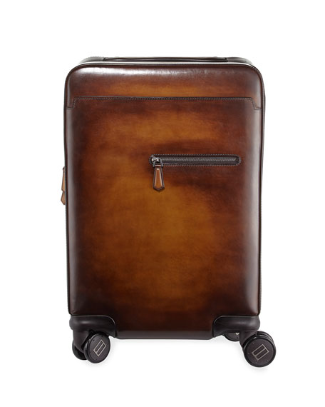 Image 1 of 1: Formula 1004 Leather Trolley Suitcase