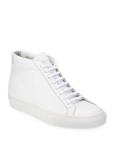 Original Achilles Men's Leather Mid-Top Sneakers  White