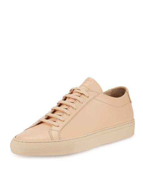 Common Projects Men\'s Achilles Leather Low-Top Sneakers, Neutral
