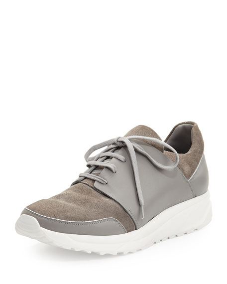 Common Projects Suede & Leather Trainer Sneaker, Gray