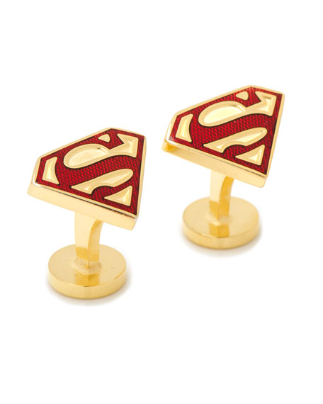 Cufflinks Inc. Gold Superman Shield Cuff Links