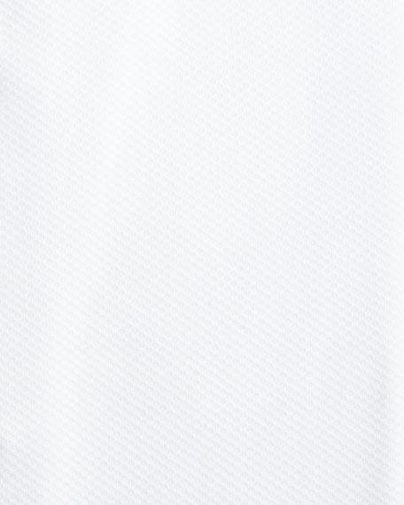Pique Woven Tuxedo Shirt, White