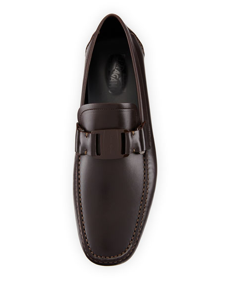 Men's Leather Driver, Dark Brown