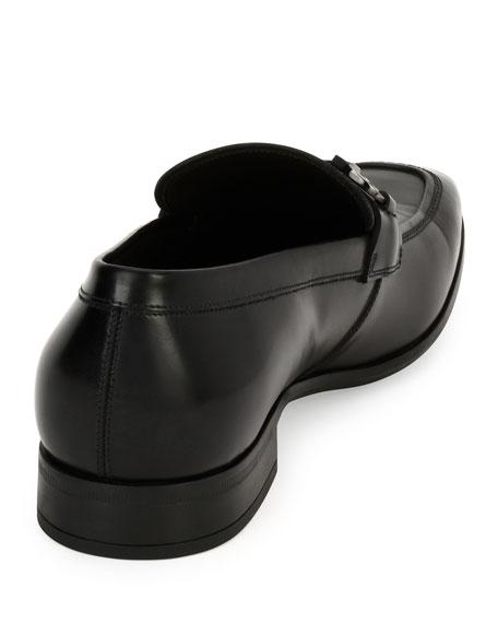 Men's Gancini-Bit Leather Loafer, Black