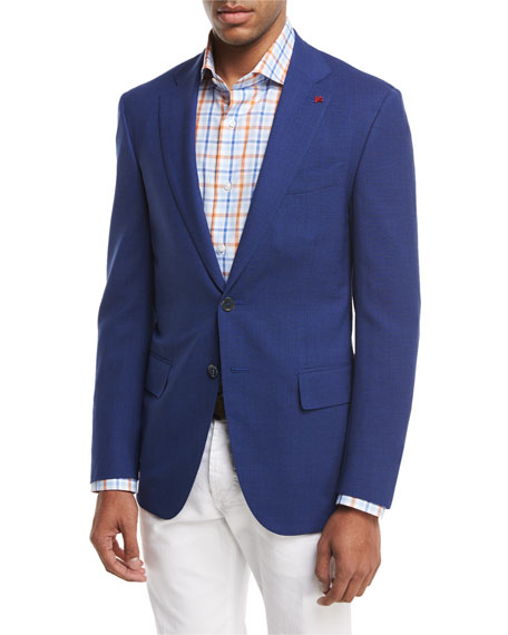Isaia Sanita Super 170s Wool Two-Button Sport Jacket,