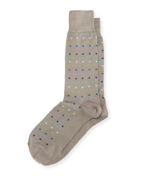 Multicolor Pin-Dot Socks