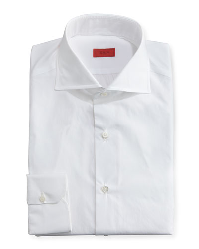 Slim Solid Dress Shirt  White