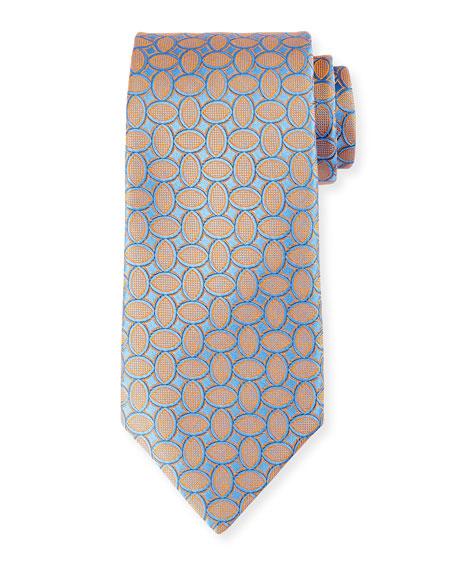 Ovals Micro Basketweave Tie
