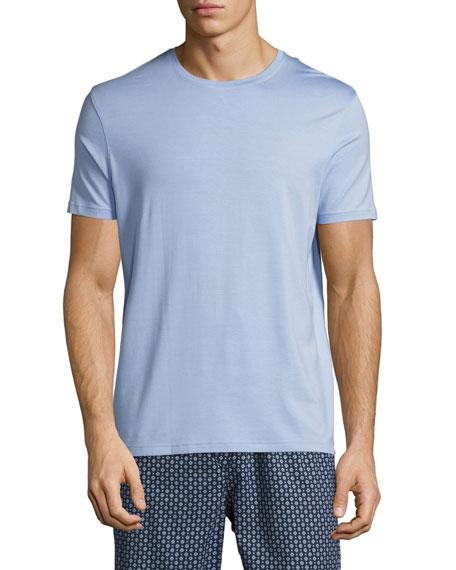 Derek Rose Basel Crewneck Lounge T-Shirt, French Blue