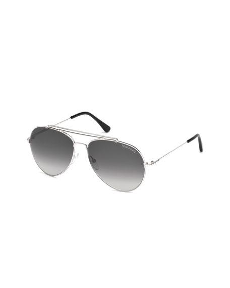Indiana Aviator Sunglasses, Black