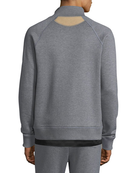 Men's Stand-Collar Zip-Front Sweatshirt