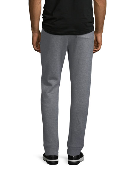 Heathered-Knit Cotton Sweatpants