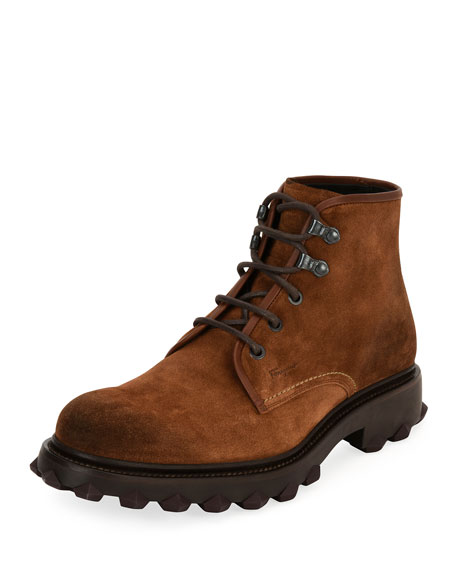 Men's Suede Work Boot, Brown