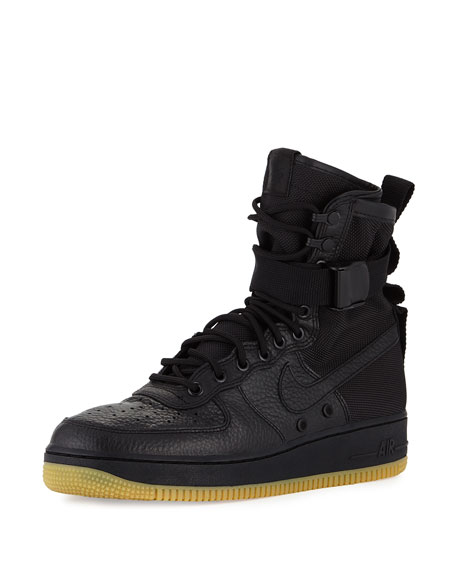 nike leather high top sneakers