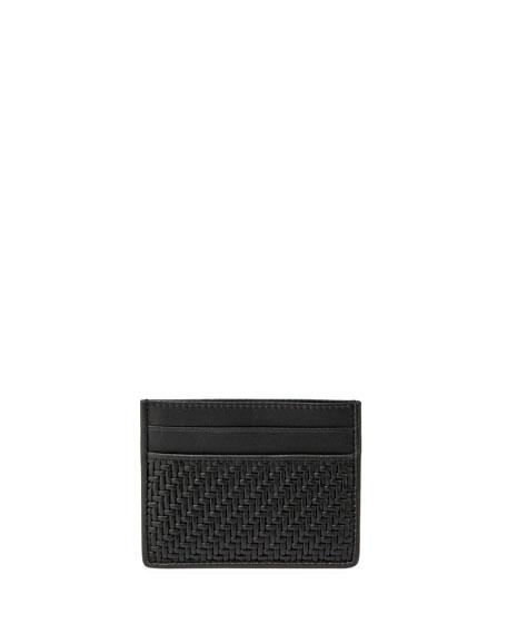 Ermenegildo Zegna Pelle Tessuta Woven Leather Card Case,