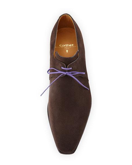 Arca Suede Lace-Up Shoe, Dark Brown