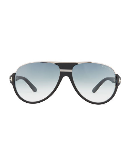Dimitry Half-Rim Aviator Sunglasses