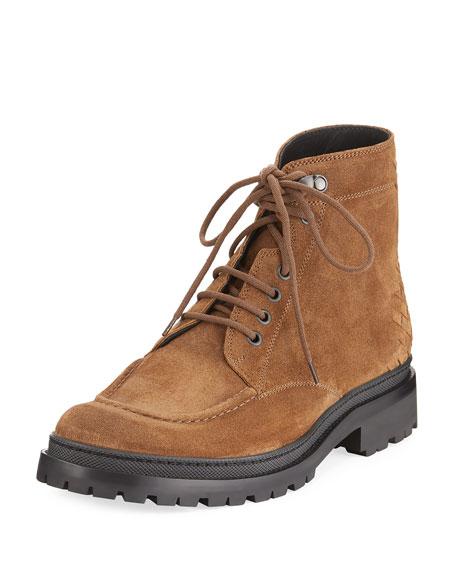 Bottega Veneta Floe Suede Ankle Boots