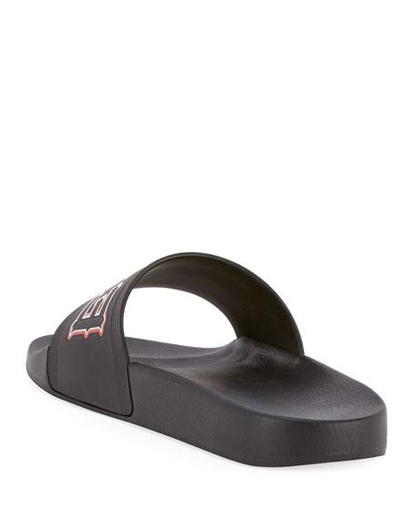 Real Eyes Pool Slide Sandal, Black/Red
