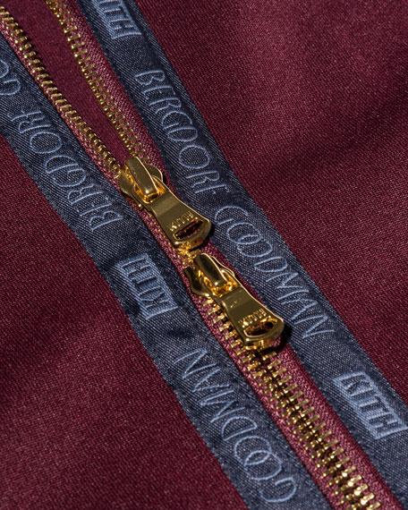Full-Zip Logo Hoodie, Burgundy