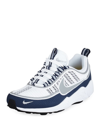 Men's Air Zoom Spiridon Sneaker, White/Silver