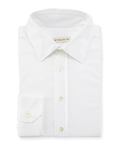 Solid Jacquard Dress Shirt