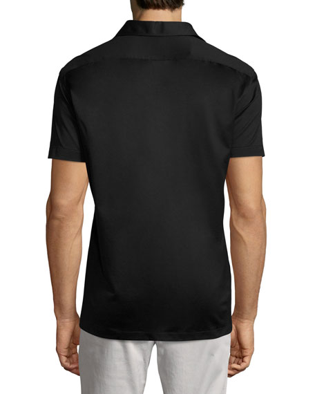 Solid Cotton Polo Shirt