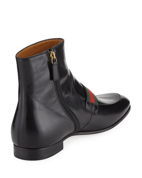 Donnie Leather Boot with Double G
