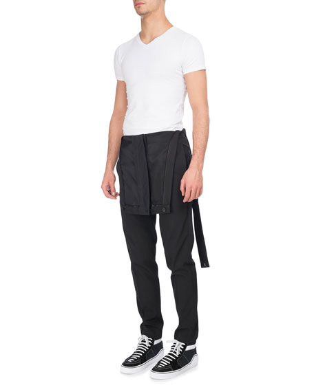 Virgin Wool-Polyester Overalls