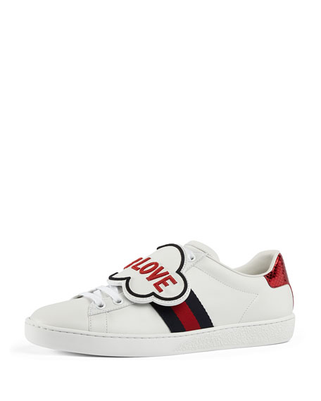 Men's New Ace Sneakers with Removable Embroideries
