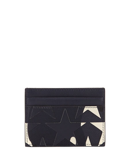 Camustars Canvas & Leather Card Case, Marine Blue