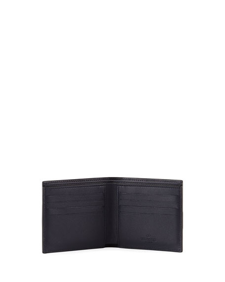 Camustars Canvas & Leather Wallet, Marine Blue