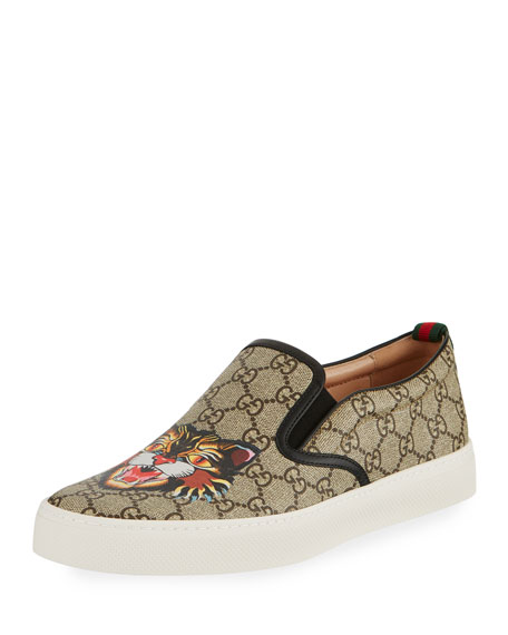 Gucci Dublin GG Supreme Angry Cat Slip-On Sneaker,
