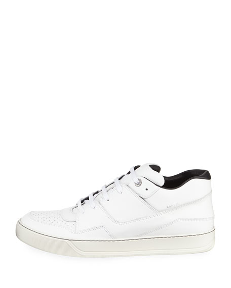 Calf Leather Mid-Top Sneaker