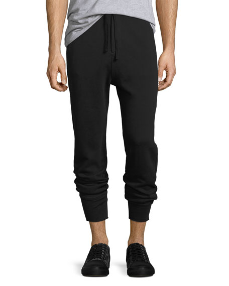 Seamed Pima Cotton Jogger Pants