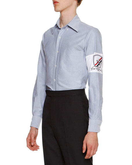 Oxford Shirt w/Embroidered Armband