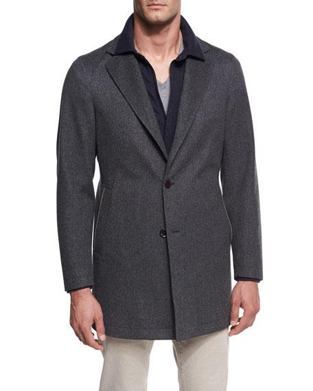 Parkway Tweed Overcoat, Gray