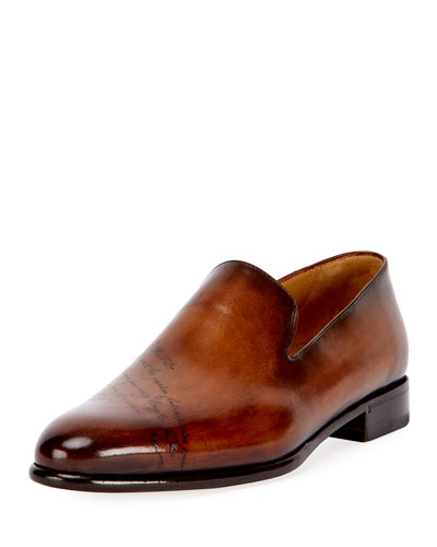 Scritto Leather Slip-On Dress Shoe