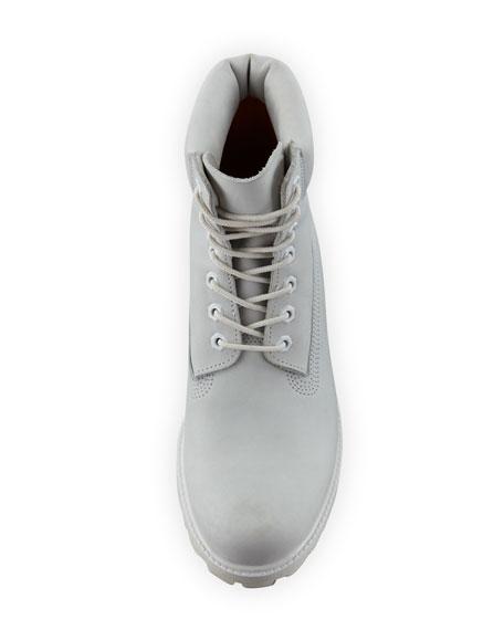 """6"""" Premium Waterproof Hiking Boot, White"""