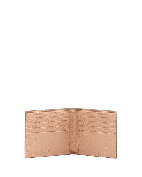 Saffiano Leather Bi-Fold Wallet