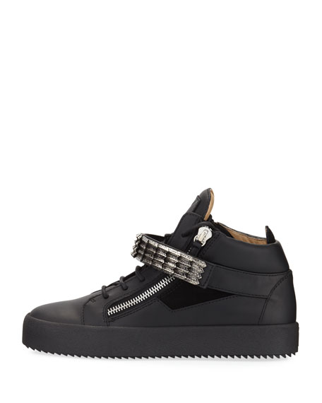 Stan Suede & Leather Mid-Top Sneaker