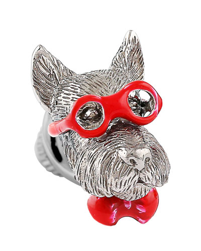 Bookish Scottish Terrier Pin