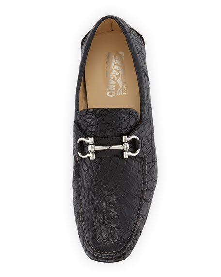 Crocodile Gancini Driver, Black