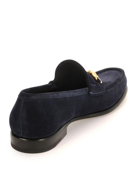 Mason Suede Gancini Loafer, Blue