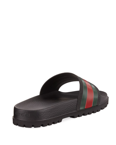 bfa419809d35 Gucci Pursuit Trek Web Slide Sandal